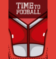 time to football vector image vector image