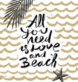 All you need is love and beach vector image