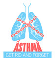 banner chain-bound asthma vector image
