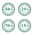 Grunge stamps for cristmas sales vector image