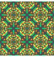 Oriental seamless symmetrical pattern vector image
