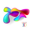 abstract color 3d cubes with depth effect vector image