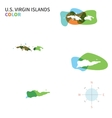 Abstract color map of US Virgin Islands vector image