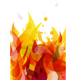 abstract colored flame background with different vector image