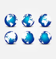 all side blue planet around world vector image vector image
