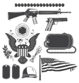 American patriotic elements set Weapons armor vector image vector image