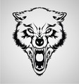 Angry Wolf Head vector image vector image