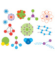 atoms and molecules vector image vector image