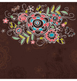 background of hand draw flowers vector image vector image