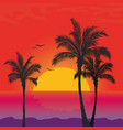 beach palm tree tropical summer ocean landscape vector image vector image