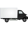 Black delivery truck vector image
