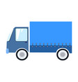 blue delivery truck vector image