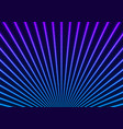 bright blue violet neon laser rays lines tech vector image vector image