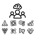 business team building people vector image