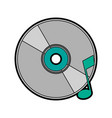 cd with quaver or eight note music icon image vector image vector image
