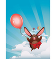 Chocolate Bunny with Balloon3 vector image vector image