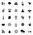 Clean concept icons on white background vector image