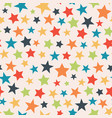 colorful stars seamless pattern background vector image vector image