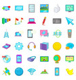 computer download icons set cartoon style vector image vector image