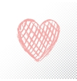 doodle red heart vector image vector image
