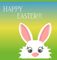 easter bunny greeting card banner happy easter vector image vector image