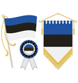estonia flags vector image vector image