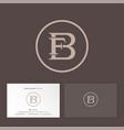f and b monogram in circle business card vector image