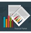 Financial market graphic vector image