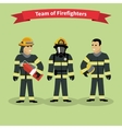 Firefighters Team People Group Flat Style vector image