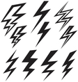 Flat sign of lightning vector image vector image