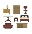 furniture collection vector image