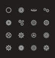 gear - flat icons vector image vector image