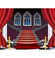 Gothic Stairs Interior7 vector image vector image