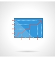 Growth graph flat color design icon vector image