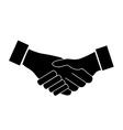 Handshake icon vector image