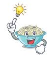have an idea rice bowl mascot cartoon vector image