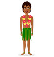 hawaiian man in national clothes vector image