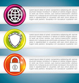 hosting infographic design vector image vector image