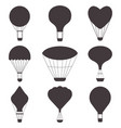 hot air balloons silhouettes vector image