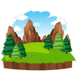 isolated natural island background vector image vector image