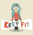Keep Fit Girl vector image vector image