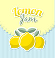 lemon jam label vector image vector image