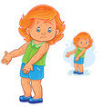 little girl with a rash on skin smallpox vector image