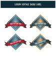 Luxury vintage badge-label vector image