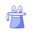 magician hat cylinder with rabbit vector image