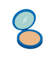 makeup powder icon design template isolated vector image