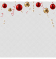 new year border with balls vector image