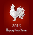 new years rooster vector image