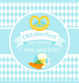 octoberfest greeting card vector image vector image