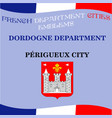 official emblems of cities of french department vector image vector image